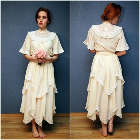 Vintage Silk Wedding Dresses by Vintage Lace And Silk Wedding Dress Lace Dress