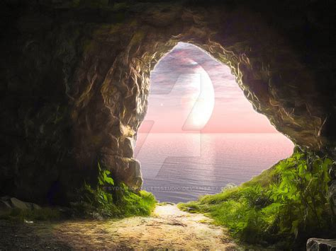 cave background pink cave pre made background stock by