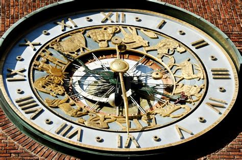 Astronomical Wall Clock by Astronomical Clock On Wall City Hall Stock Photo Colourbox
