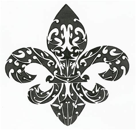 tribal tattoo quebec fleur de lis tribal by sovereignimpresario deviantart