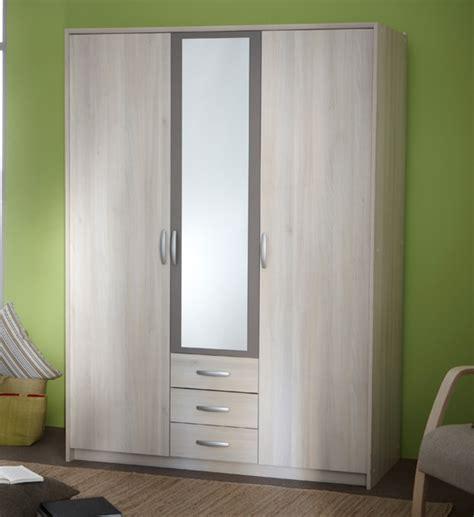Armoire 3 Portes Miroir by Armoire 3 Portes Avec Miroir Alabama Lestendances Fr
