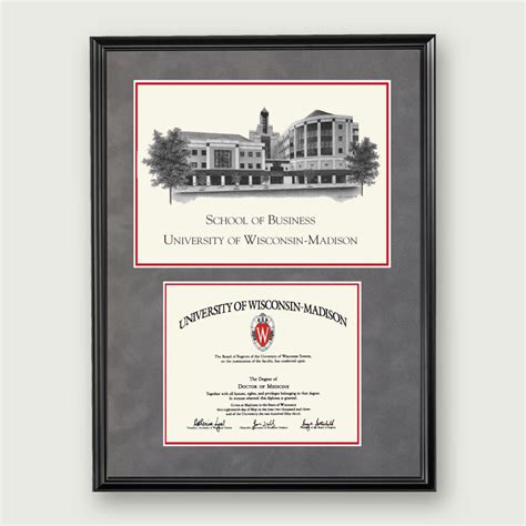 Of Wisconsin Mba Product Management by Alumni Artwork Diploma Frame