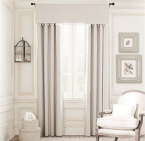 restoration hardware baby curtains pom pom linen cotton drapery panel drapery restoration