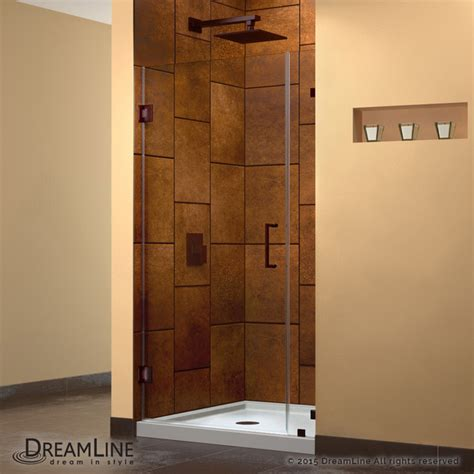 Bronze Shower Doors Frameless Dreamline Unidoorlux 36 Quot Frameless Hinged Shower Door Rubbed Bronze Modern Shower Doors