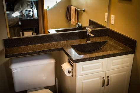 Vanity Top Extends Toilet Vanities Contemporary Bathroom Vanities And Sink Consoles