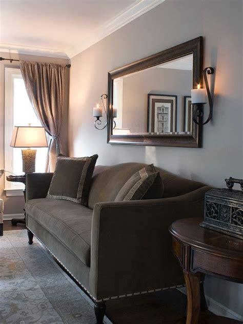 traditional chocolate brown  tan living room