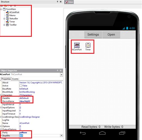 tutorial delphi xe5 android delphi xe5 serial port on android stack overflow