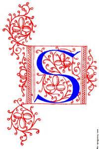 decorative medieval letters m