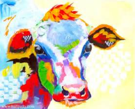colorful cow painting 1000 images about the sherpa lesson gallery