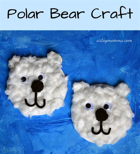 Polar Paper Plate Craft - paper plate polar craft artsy momma