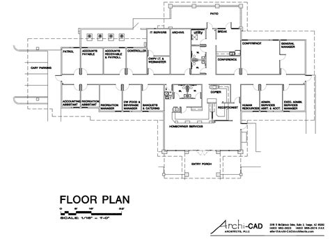 the floor plan of a new building is shown new admin building project