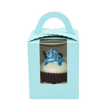 cupcake boxes with window large coloured cupcake boxes with window and handle