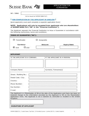 Credit Suisse Bank Guarantee Format ol400 form fill printable fillable blank