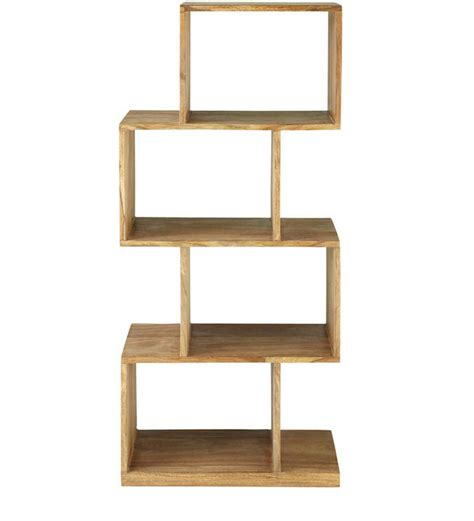 zig zag display book shelf by wood dekor by wood dekor
