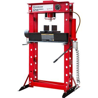 pneumatic shop press strongway 50 ton pneumatic shop press with and winch