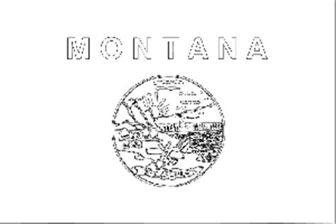 montana state flag coloring page