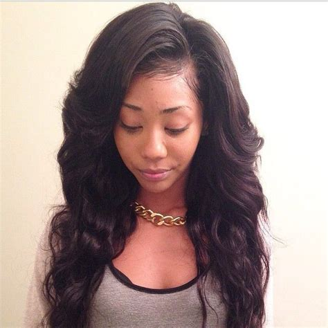 can i have a middle part weave without hair showing this sew in by needle thread scissors is gorgeous and