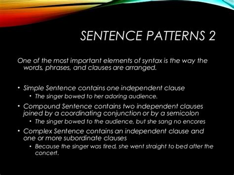 sentence pattern of mary is exhausted syntax sentence construction motheo mkize
