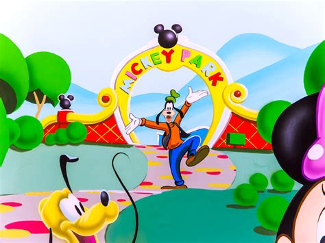 mickey mouse clubhouse wall mural wall murals best free home design idea