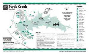 Purtis Creek State Park Map purtis creek texas state park facility and trail map