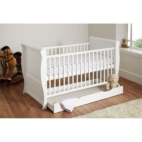 Sleigh Cot Bed White Buy Preciouslittleone Sleigh Cot Bed White Preciouslittleone