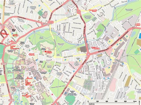 map uk cambridge cambridgeshire map