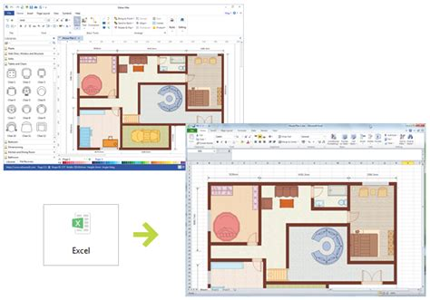 draw floor plans in excel create floor plan use wall shapes in floor plan create a