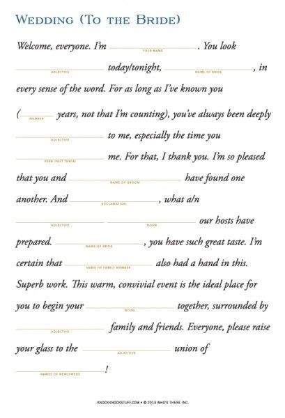 Outline Of And Groom Speech by Wedding Survival Kit For Bridal Toast Grooms And Survival Kits