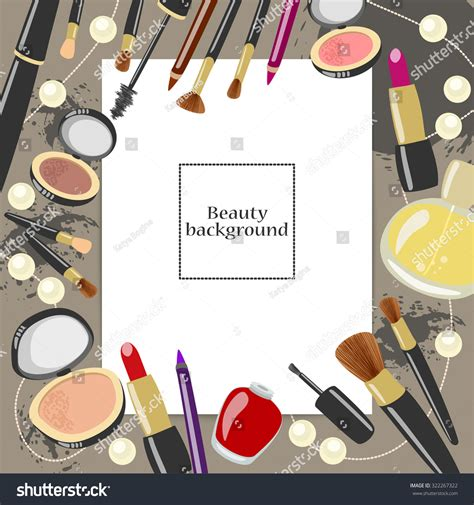 Lipstick Free Eyeliner vector makeup illustration cosmetics background