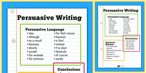 persuasive writing poster persuasion posters literacy