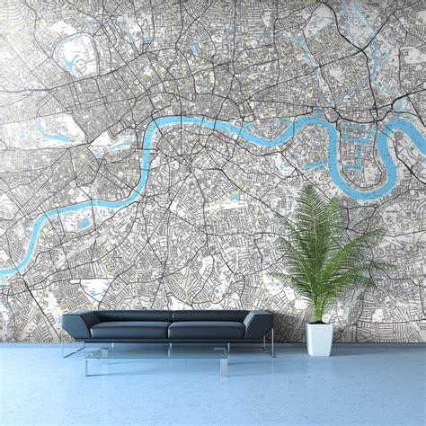 wallpaper for walls london street map wallpaper in your own corporate colours get