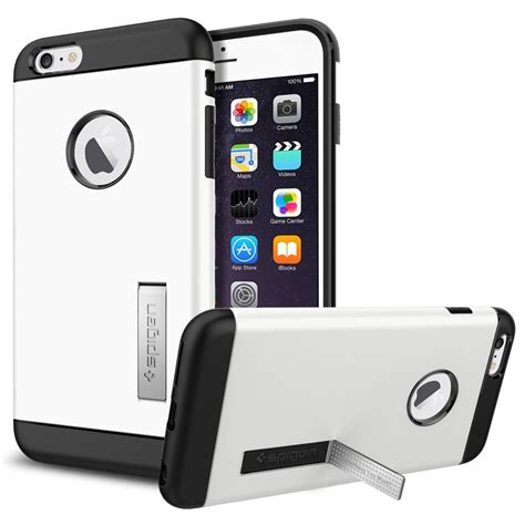 Sgp Creative For Iphone 6 Oem White 1 sgp slim armor plastic tpu combination with kickstand for iphone 6 plus oem white