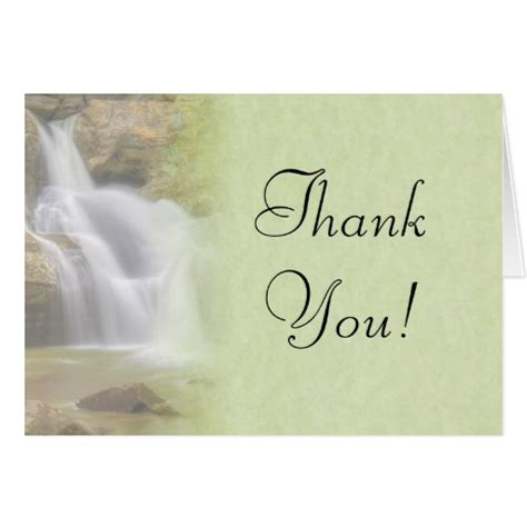 beautiful thank you cards beautiful waterfall thank you card zazzle