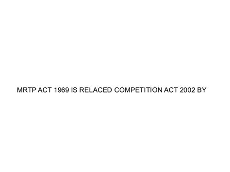 Competition Act 2002 Notes For Mba by Abuse Of Dominanc