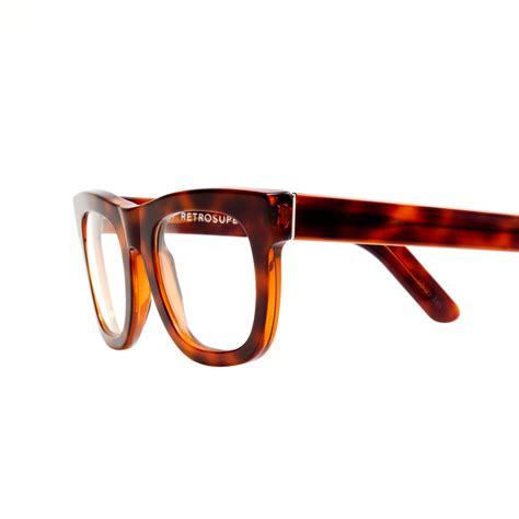 retrosuperfuture ciccio eyeglasses in animal light