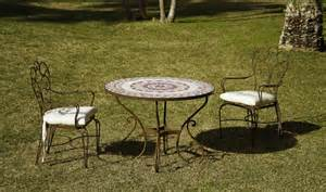 table de jardin ronde en fer ziloo fr