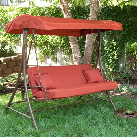 outside swings with canopy gorgeous outdoor porch and patio swings for your home