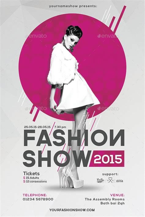 templates for fashion show flyers fashion show flyer by vorsa1514 graphicriver