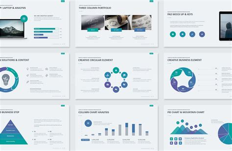 clean business presentation template free download