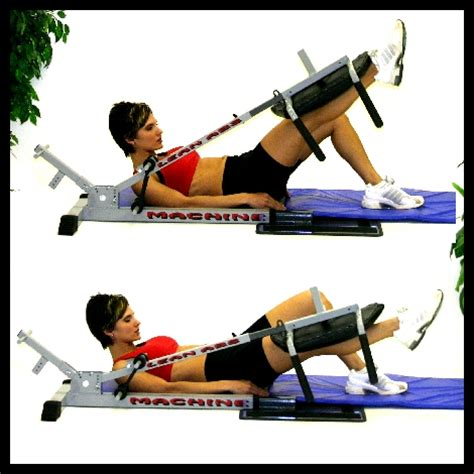 leg lifts at the lean abs machinethe step up and go ab machine
