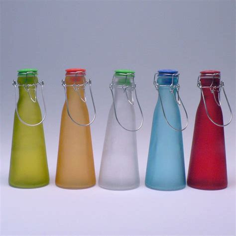 swing top bottles cheap swing top spray colored new glass milk bottle with metal