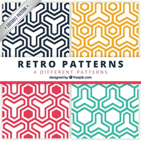 geometric seamless patterns pack vector premium download colored geometric patterns pack vector premium download