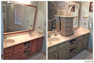 Before And After Bathroom Cabinets Bathroom Vanity Makeover With Sloan Chalk Paint