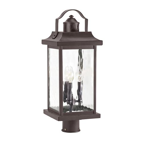 Kichler Outdoor Lights Shop Kichler Linford 22 13 In H Olde Bronze Post Light At Lowes