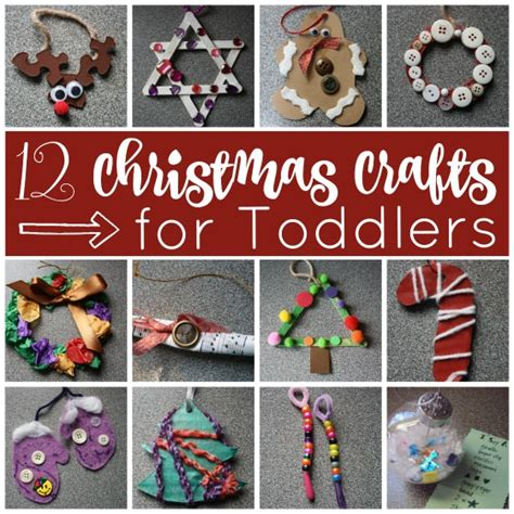 easy christmas crafts  toddlers happy hooligans