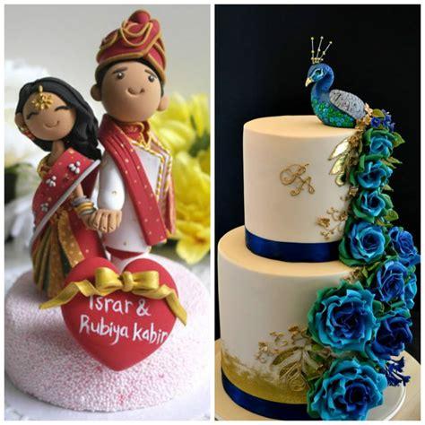 Bird Figurines by Cutesy Indian Wedding Cake Designs To Add A Desi Touch