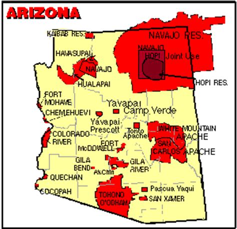 american reservations arizona map hualapi tribe on american authors