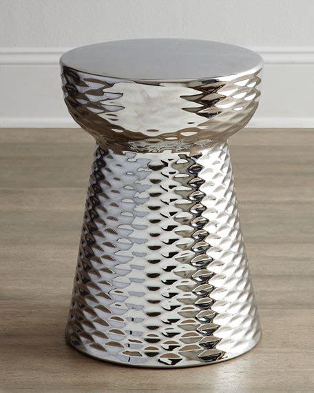chrome finish garden stool