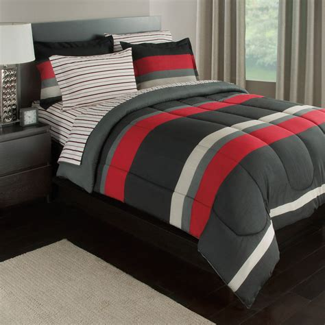 rugby stripe bedding rugby stripe reversible bed in a bag bedding set available