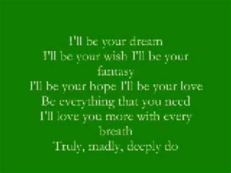 I Want You Savage Garden Lyrics by Truly Madly Deeply Savage Garden With Lyrics